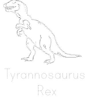 Dinosaur Tracing Page - T.Rex