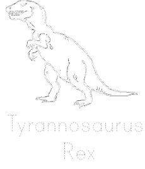 Dinosaur Tracing Page - T.Rex