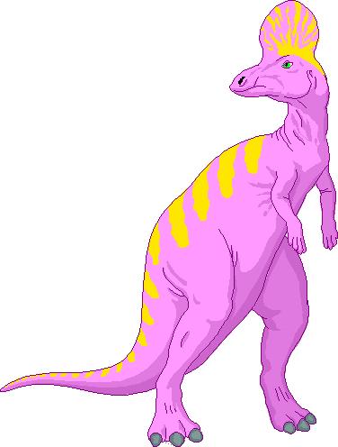 cute lambeosaurus cartoon dinosaur public domain