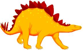 Cartoon Stegosaurus Dinosaur