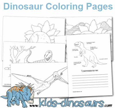 Dinosaur Types Color Pages