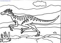 Velociraptor Dinosaur Coloring