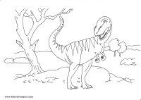 T Rex Skeleton Coloring Page