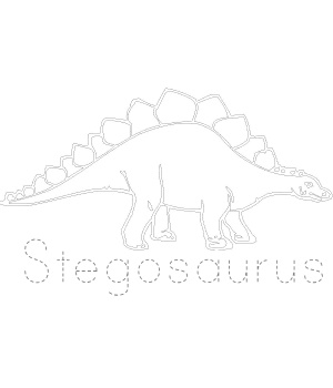 Dinosaur Tracing Stegosaurus on printable shape tracing sheets