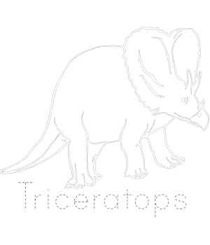 Dinosaur Tracing - Triceratops Page