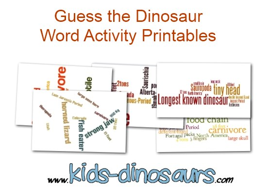 Guess the dinosaur word activities