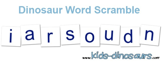 dinosaur word activities - word scramble