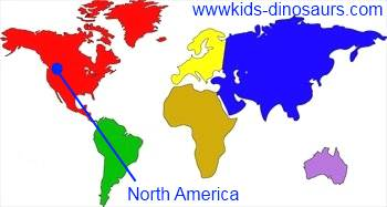 Diplodocus Dinosaur Map - where did they live?