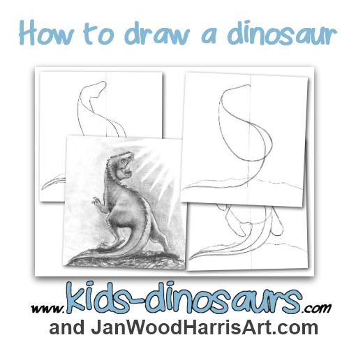 How to draw a dinosaur - easy step by step T. Rex