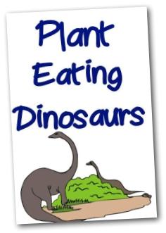 Dinosaur Printable - Herbivore Booklet