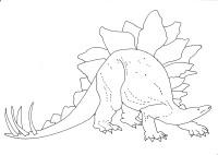 Stegosaurus dinosaur coloring sheet