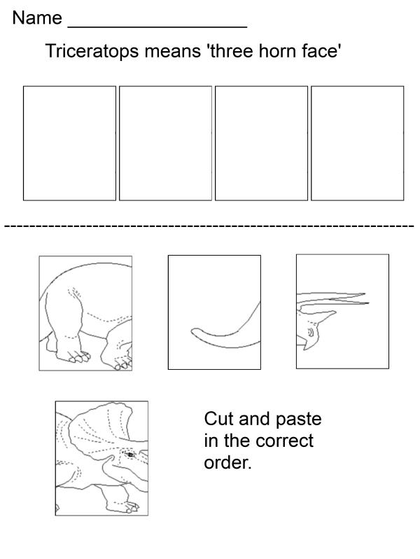 Dinosaur Worksheets For Kids - Davezan
