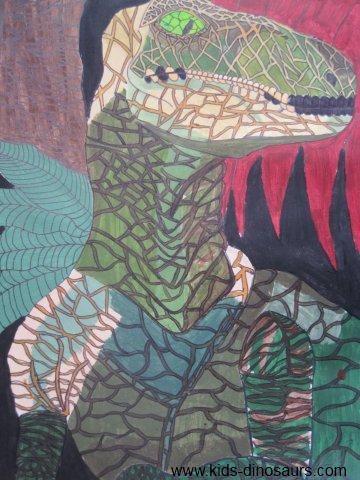 Dinosaur Illustrations - Velociraptor