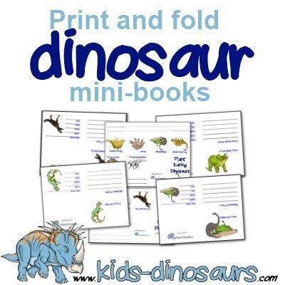 Dinosaur Printables - free mini dino booklets