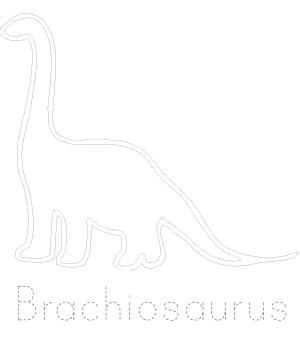 Dinosaur Tracing - Brachiosaurus Sheet