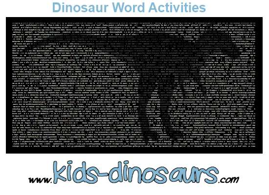 Dinosaur Word Activities