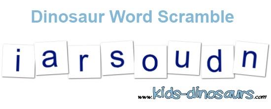 dinosaur word activities - word scramble