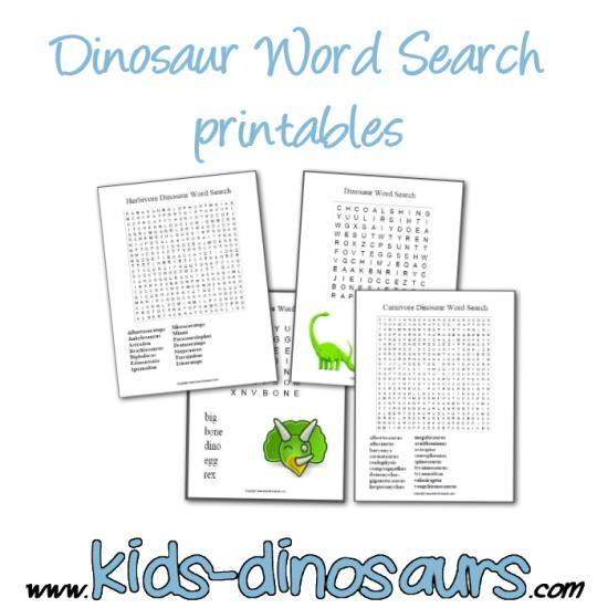 find dinosaur word search printables for free