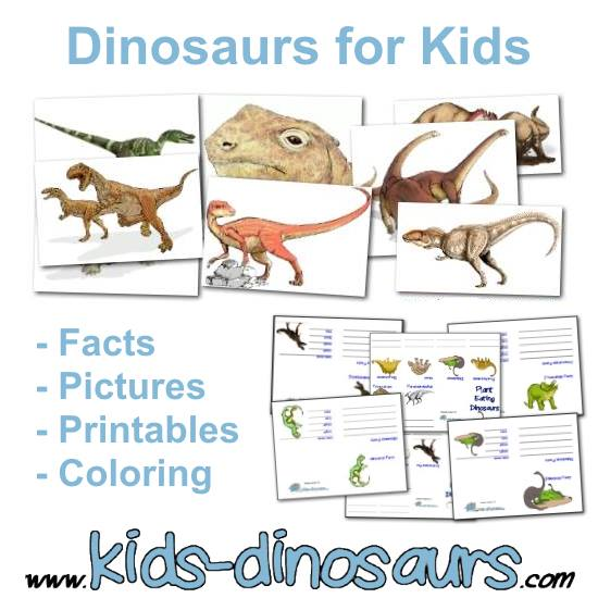 Dinosaurs for Kids - Facts, Pictures, Printables
