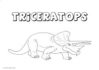Dinosaurs Triceratops coloring page 1