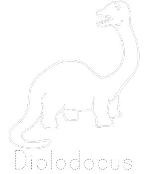 Dinosaur Traching Pages - Diplodocus