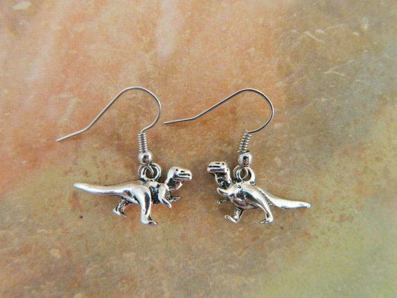 T-Rex Earrings - Dinosaur