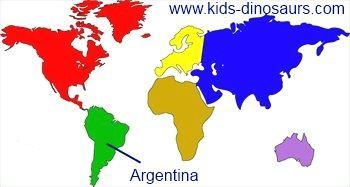 Giganotosaurus Dinosaur Map - where did they live?