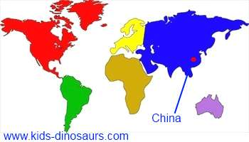 Linhenykus Dinosaur Map - where did they live?