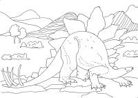 stegosaurus dinosaur coloring sheet - Colour In Sheet
